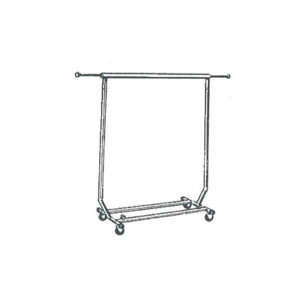 Collapsible garment rack on casters