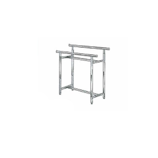 Adjustable rectangular garment rack