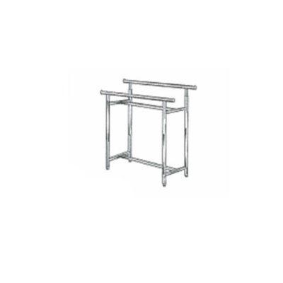 Adjustable rectangular garment rack