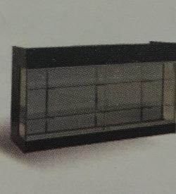 Comptoir double avec vitrine