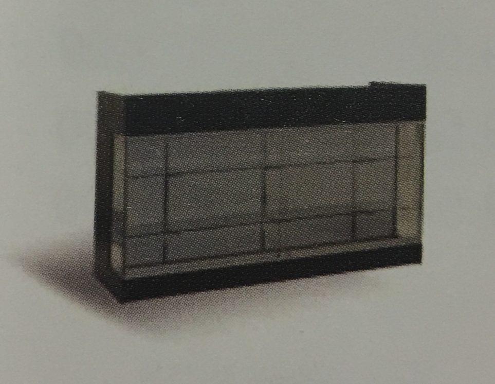 Double ledgetop counter